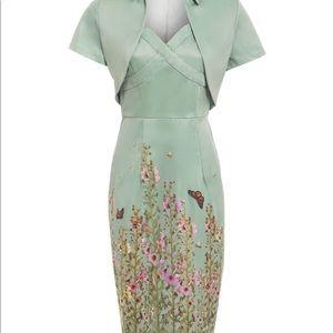 Lindy Bop Floral Wiggle Dress